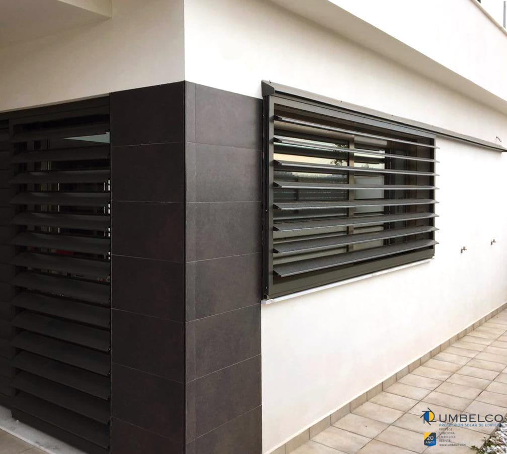 Celosias de lamas de aluminio correderas para vviendas unifamiliares