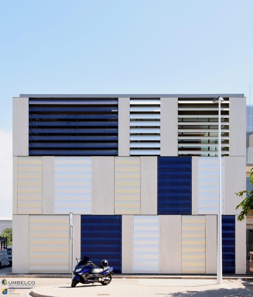 Lamas de aluminio de colores para oficinas