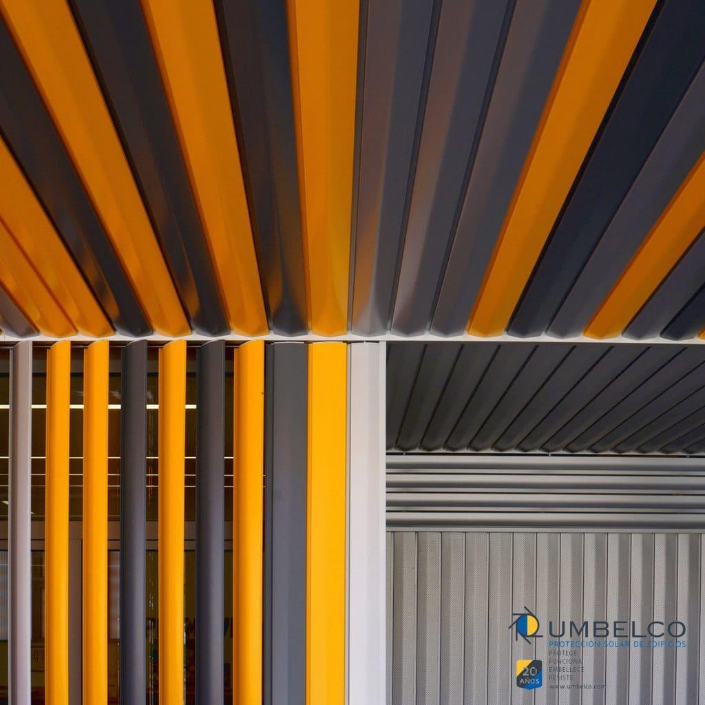 Celosias de aluminio colores umbelco