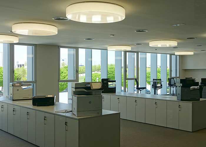 celosias de aluminio rectangulares para oficinas