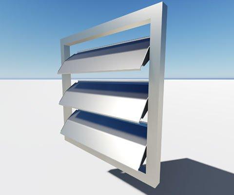 celosía de lamas de aluminio orientables de 25 cms