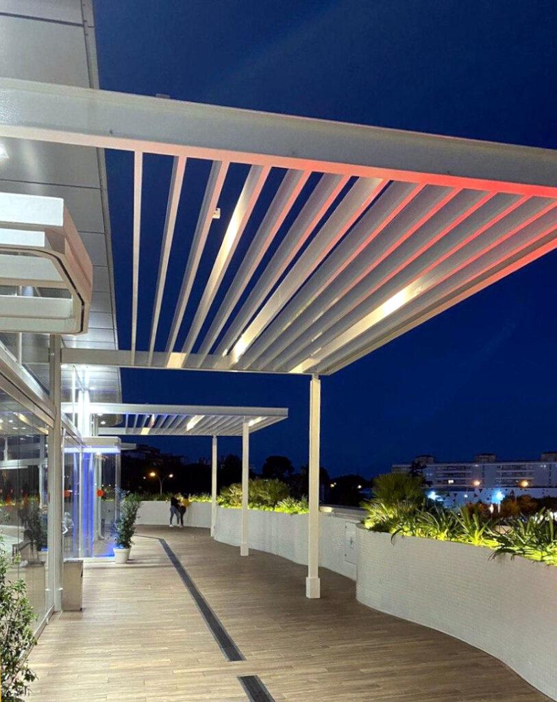 Lamas tubulares de aluminio para protección solar
